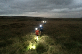 Barbrook trail run head torch