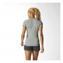 womens supernova ss tee grey model back