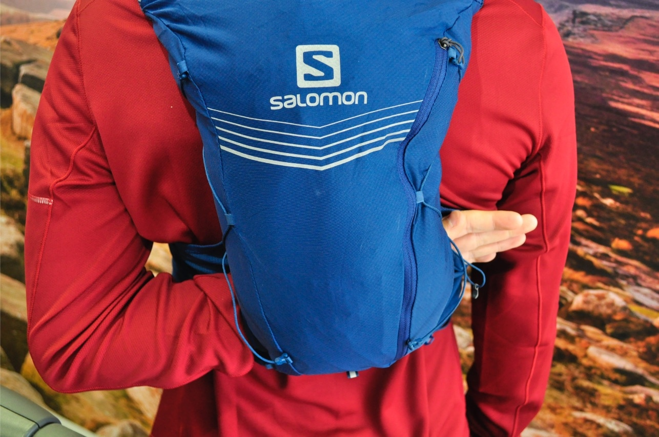 Salomon Advance Skin 12 Set  rear pocket through