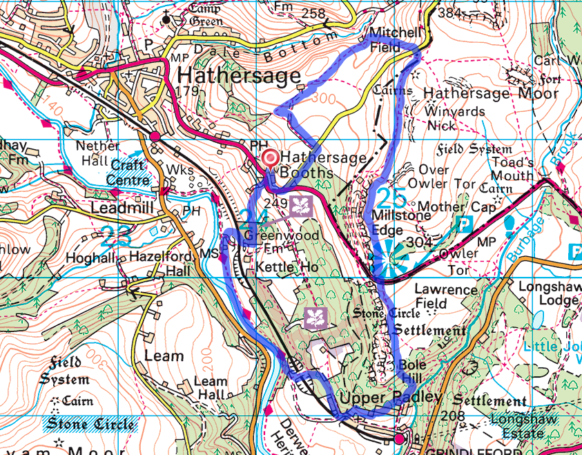 Head torch trail run Hathersage
