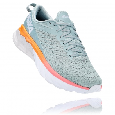Hoka arahi 4 womens grey:orange 1