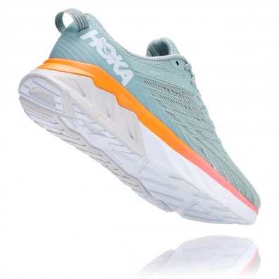 Hoka arahi 4 womens grey:orange 3