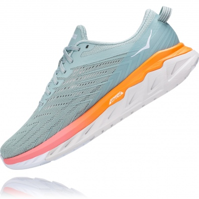 Hoka arahi 4 womens grey:orange 4