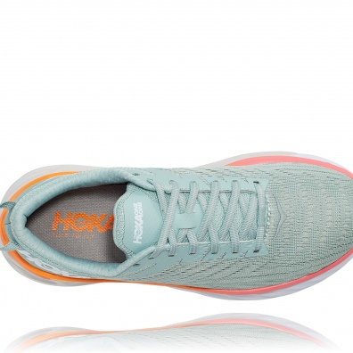 Hoka arahi 4 womens grey:orange 5